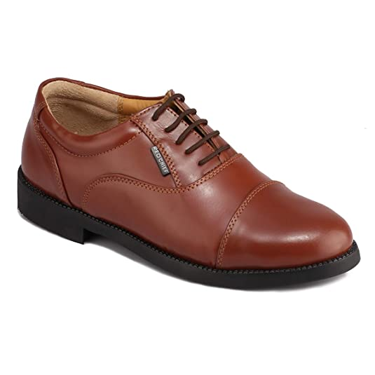 Red Chief Men's Tan Leather Lace-ups Men's Formal Shoes at amazon