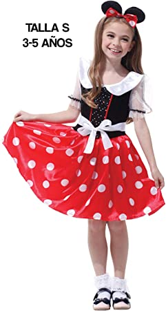 Krazy Toys Disfraz Minnie Mouse Niña (3-5 años): Amazon.es ...