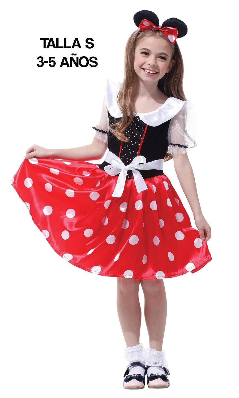 Krazy Toys Disfraz Minnie Mouse Niña (5-7 años): Amazon.es ...