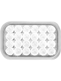 Grand General 77184 White Rectangular Pearl 24-LED Back-Up Sealed Light