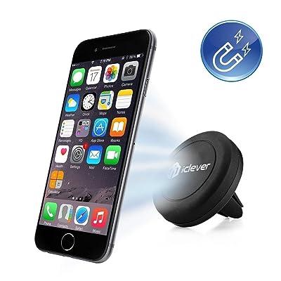 Soporte de Móvil,iClever® IC-CH05 Sostenedor Magnético en Respiradero del Coche para iPhone 6 6 Plus, iPhone 5S 5C 5 4S, Samsung Galaxy S6 Edge, S6 S5 S4 S3, Nexus 5 4, HTC One M9 M8 y MP3 MP4 PDA GPS, Negro