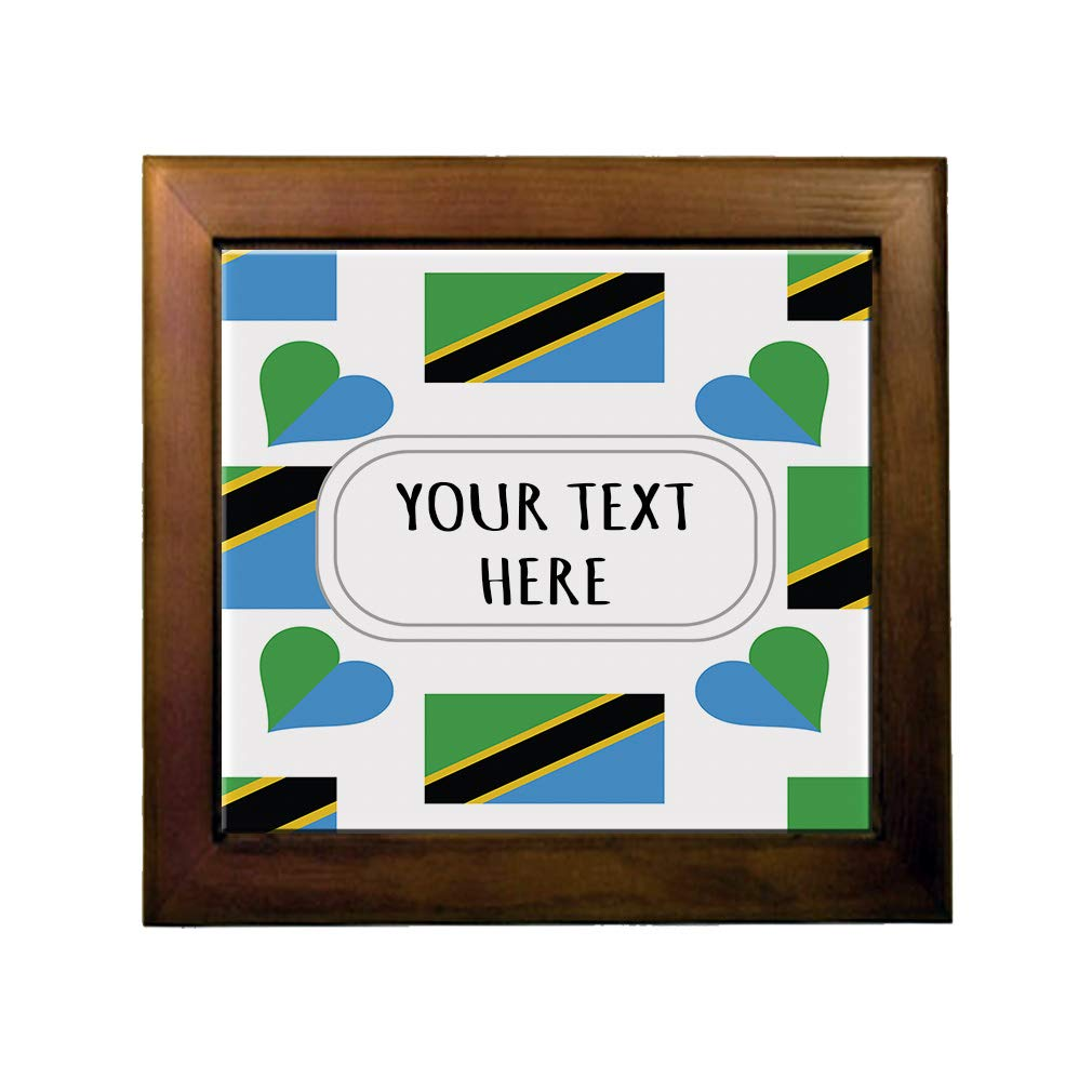Amazon com: Ceramic Tile in Wood Frame Custom Tanzania
