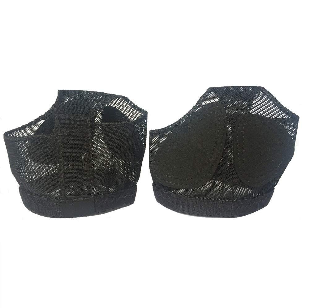 Strings Pied Ballet Belly Danse Chaussures Filles Femme Lanieres Danse Boule de lavant-Pied Coussin Noir Taille M