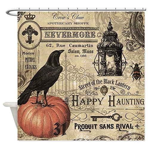 CafePress Modern Vintage Halloween Shower Curtain