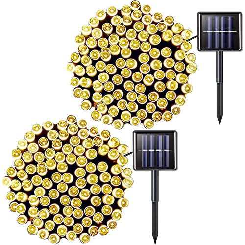 JMEXSUSS 006 200LED 2PCS Solar String Lights