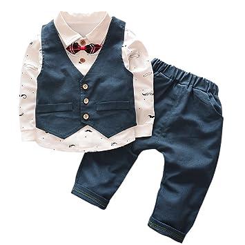 Little Boy Tuxedo Caballeros Traje de Bautizo de Bebé Traje ...