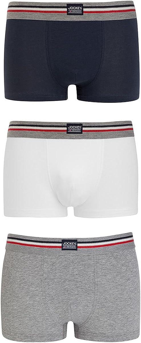 TALLA 3XL. Jockey 3er Pack Herren pantalón Corto Trunk Boxer Shorts USA Originals Uni–Schwarz