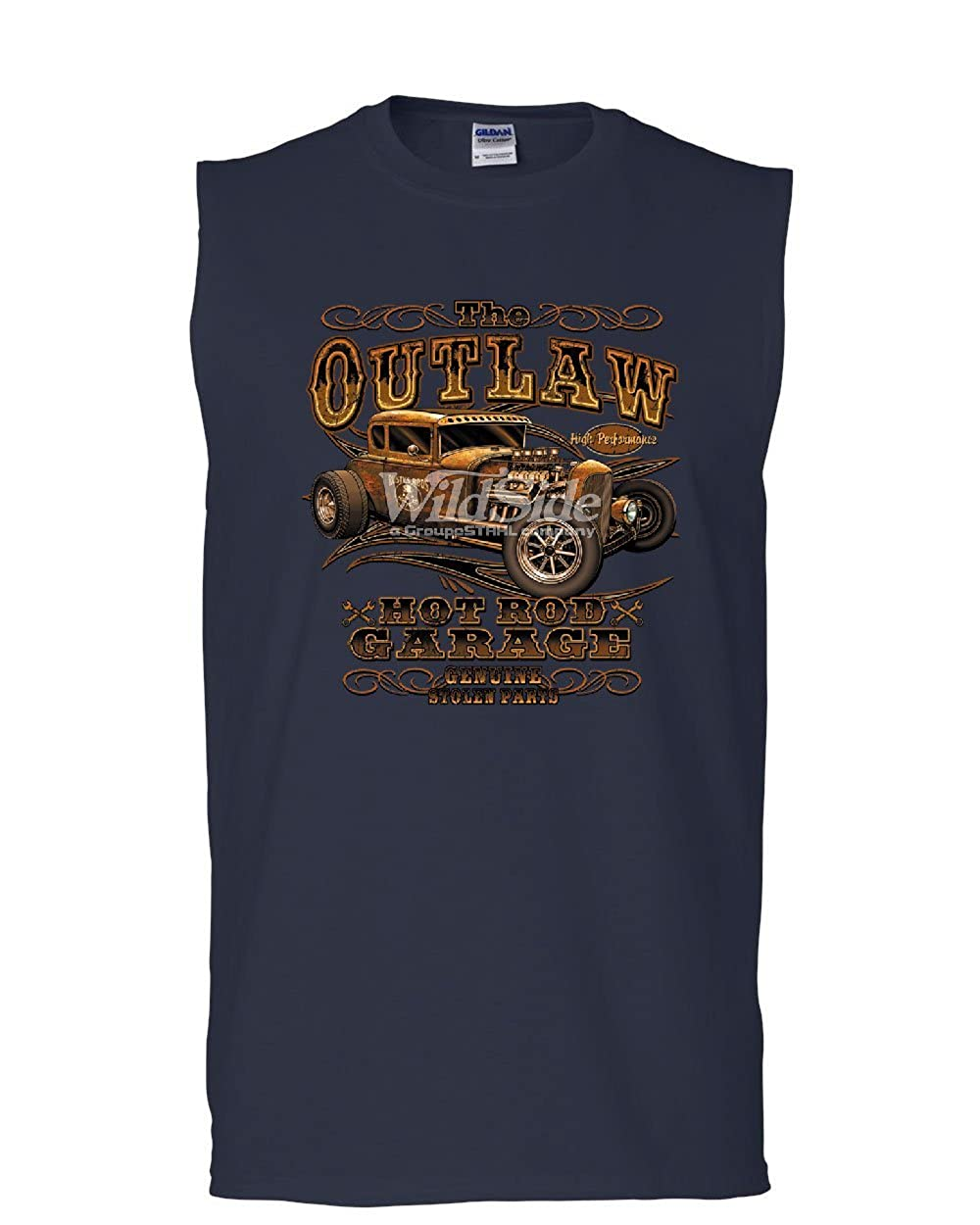 The Outlaw Hot Rod Garage Muscle Shirt Performance American Muscle Sleeveless