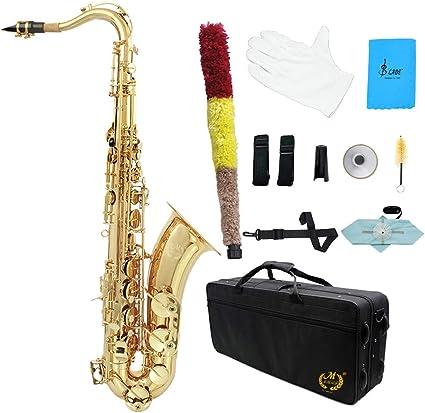 LLC-CLAYMORE B saxofón Tenor, Kit de saxofón de latón, Boquilla ...