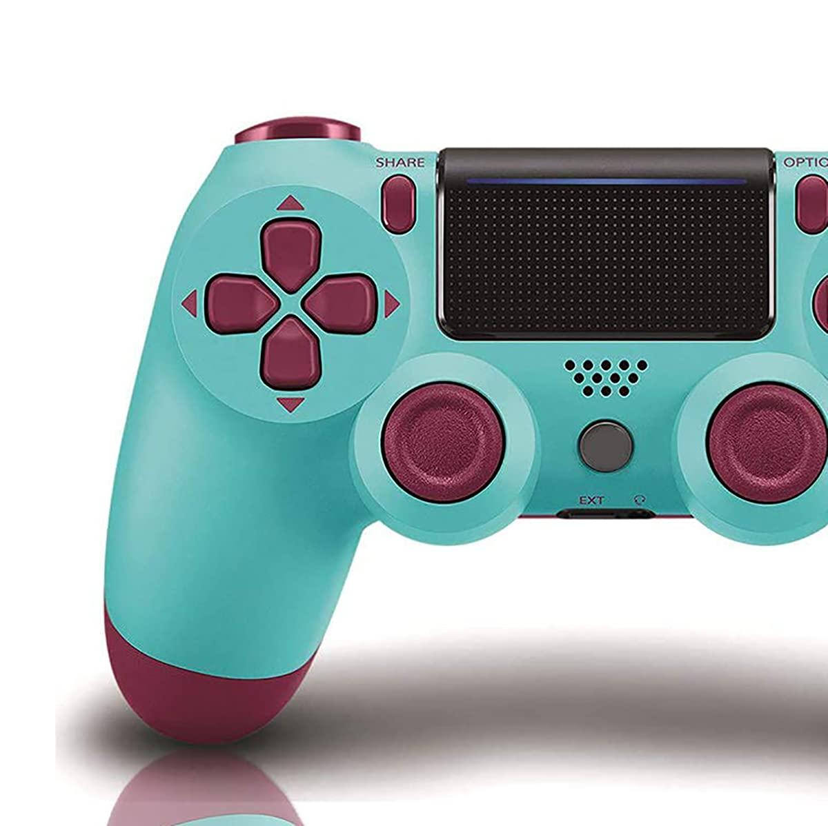을위한 게임 컨트롤러 PS4 무선 게임 패드 PS4 | PS4PRO | PC 고 노트북으로 진동과 오디오 기능 미니 LED 표시 높은 민감한 컨트롤러와 반대로-미끄러짐(베리 블루)