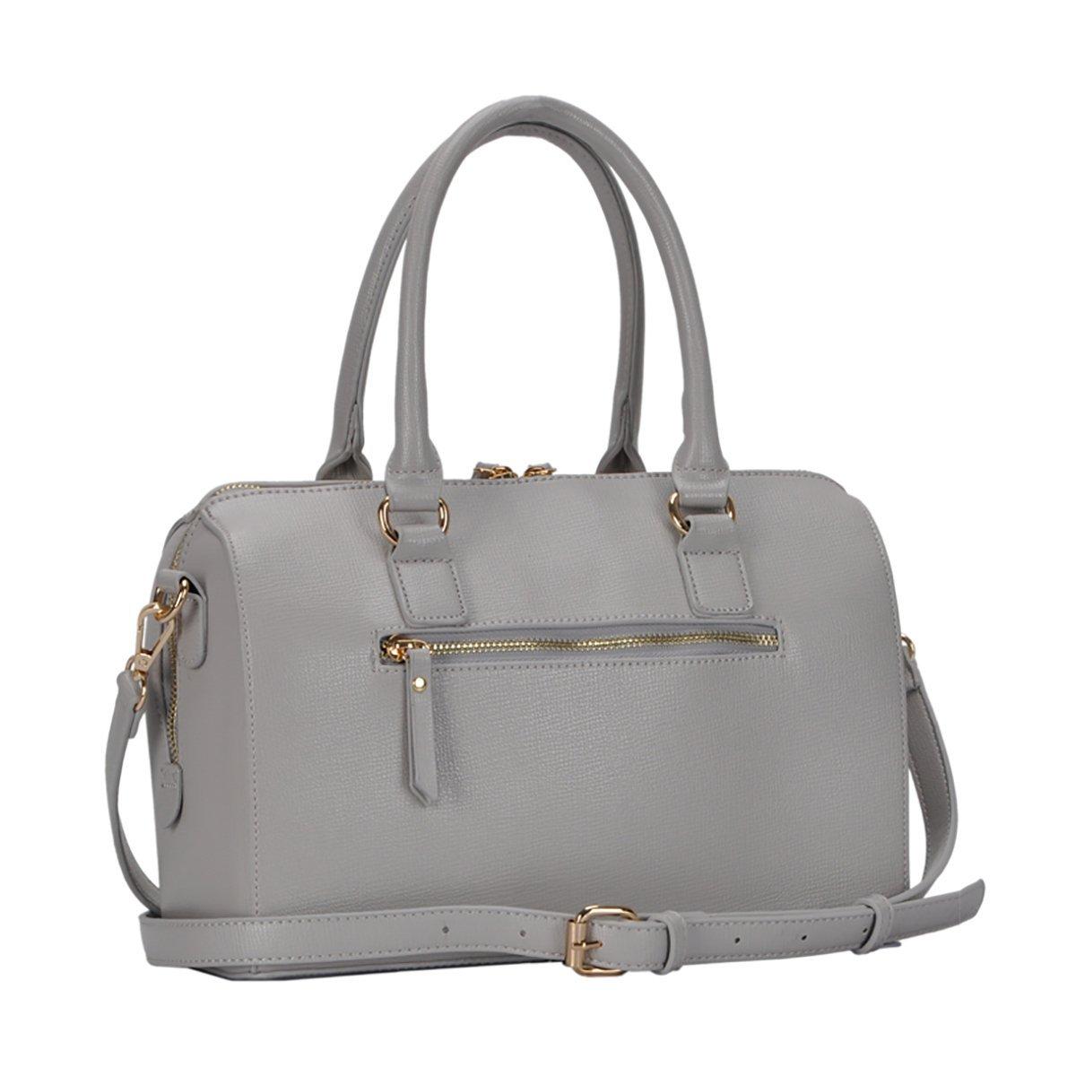 Grey Mauve BGT-48524 Miztique Camille Satchel Bag
