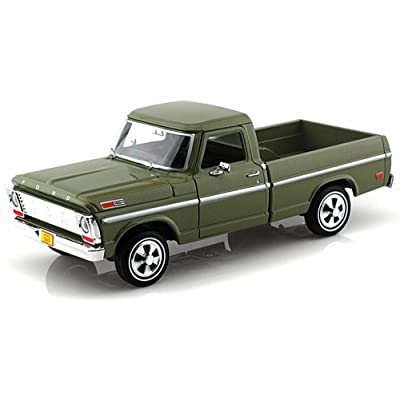 1969 Ford F-100 Pickup, Green - Motormax Premium American 79315 - 1/24 Scale Diecast Model Car by Motor Max: Toys & Games