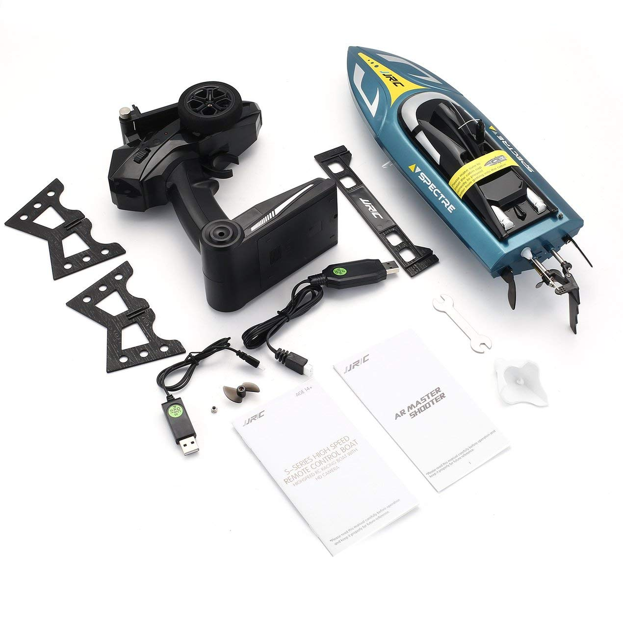 Dooret JJR / C 2.4G 720P WiFi FPV Kamera Speedboat 25 km / h RC RennStiefel Spielzeug für Kinder