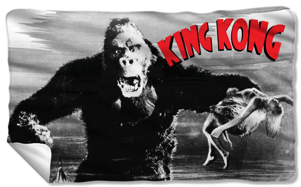 King Kong - Kong And Ann Fleece Blanket 57 x 35in
