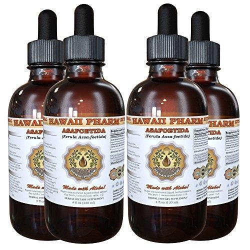 Asafoetida Liquid Extract, Organic Asafoetida (Ferula Assa-foetida) Powder Tincture Supplement 4x4 oz by HawaiiPharm (Image #4)
