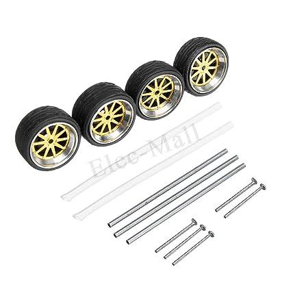 Amazon.com: Modelos de neumáticos de coche con ejes ruedas ...