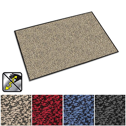 "casa pura Anti-Static Entrance Mat | Indoor and Outdoor Front Door Mat | Entry Rug for Home and Business | Beige | 36"" x 48"" from casa pura"
