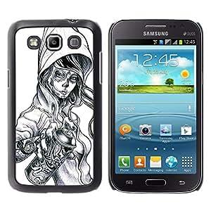 Shell-Star Arte & diseño plástico duro Fundas Cover Cubre Hard Case Cover para Samsung Galaxy Win / I8550 / I8552 / Grand Quattro ( Graffiti Tattoo Zombie Skull Girl Spray )