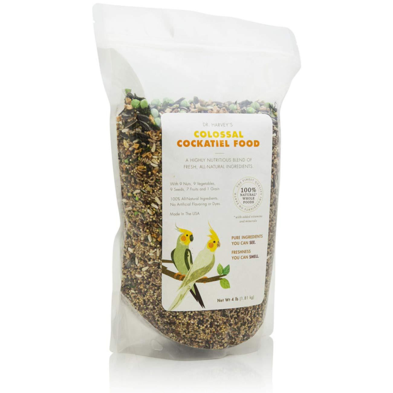 Dr. Harvey's Colossal Blend Natural Food for Cockatiels, 2-Pound Bag