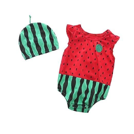 79dbb941535b Amazon.com  Waymine Baby Boy Girl Cartoon Watermelon Strawberry ...