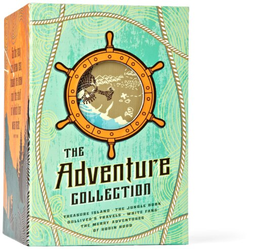 The Adventure Collection: Treasure Island, The Jungle Book, Gulliver's Travels, White Fang, The Merry Adventures of Robin Hood (The Heirloom Collection) by Brand: Two Lions