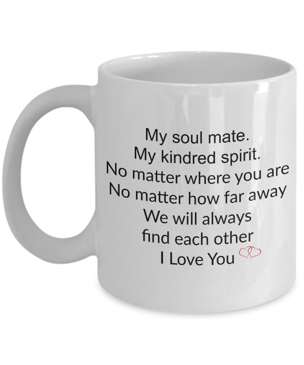 Amazoncom Kindred Spirits Mug My Soul Mate My Kindred Spirit
