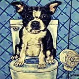 Boston Terrier in the Bathroom dog art tile Review and Comparison