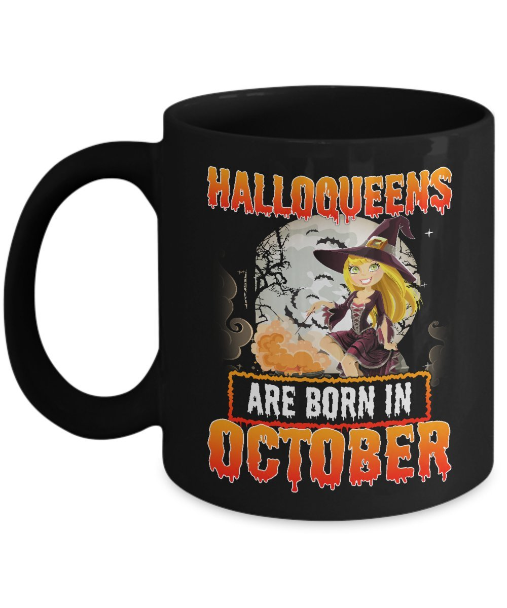 Amazon October Birthday Gifts For Women Funny Halloween Mug Who Born In Kitchen Dining