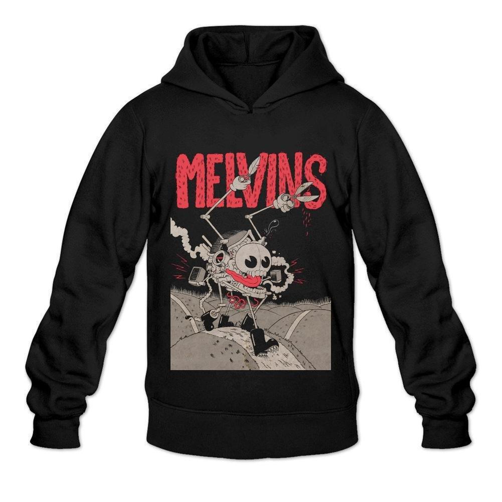 JGNOZ Men's Melvins Band Hoodies-100% Organic Cotton Black XXL