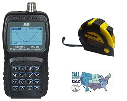 HF//VHF w//Meters and Ham Guides TM Pocket Reference Card Bundle MFJ Antenna Analyzer