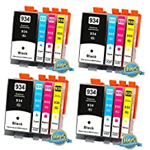 16PK Compatible HP 934XL 935XL New Black and Color inkjet Set for HP Officejet 6812/6815/6230/6830/6835