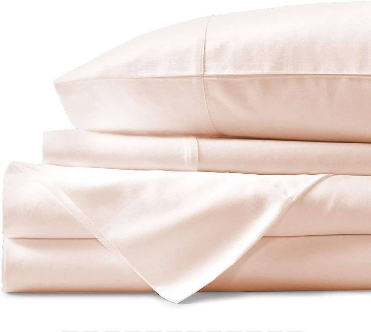 Mayfair Linen 100% Egyptian Cotton Sheets, Ivory California King Sheets Set, 800 Thread Count Long Staple Cotton, Sateen Weave for Soft and Silky Feel, Fits Mattress Upto 18'' DEEP Pocket