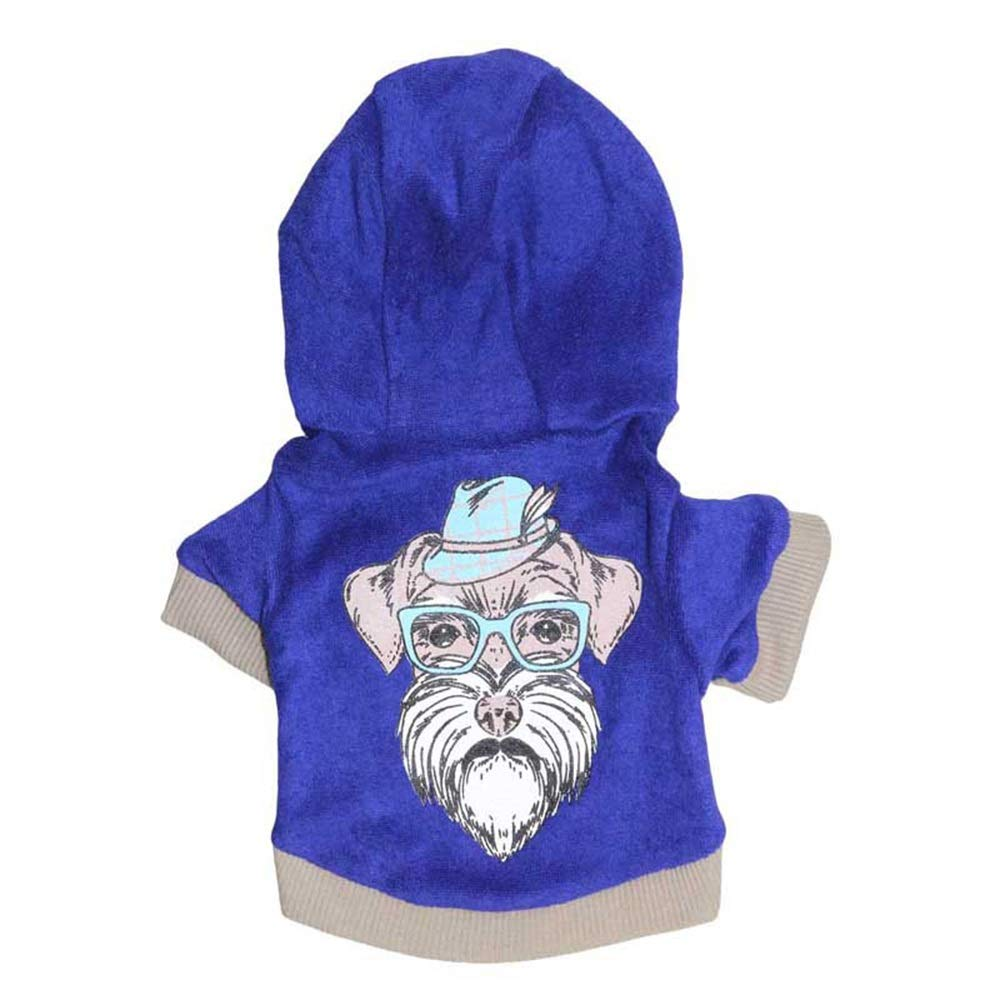 As shown S As shown S Huayue Pet Hoodie Dog Clothes Polyester Hooded Pet Sweater Small and Sensitive Dog Pity (color   As Shown, Size   S)