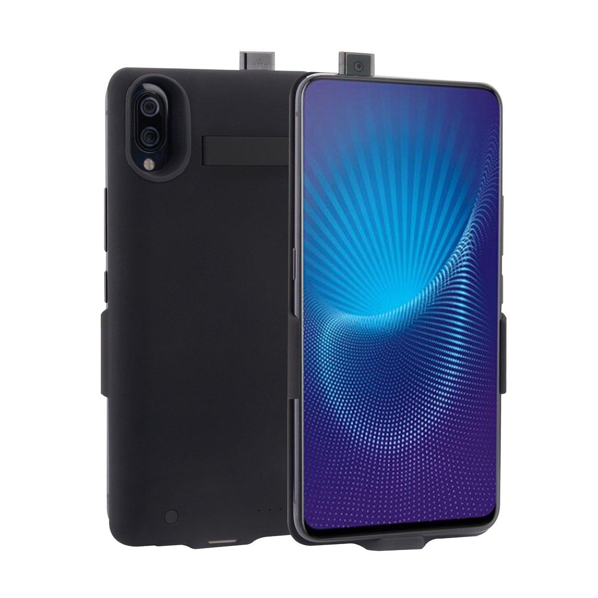 Compatible Vivo NEX Battery Charger Case - Portable Battery Case Slim Extended Battery Juice Power Bank for Vivo NEX (Black)