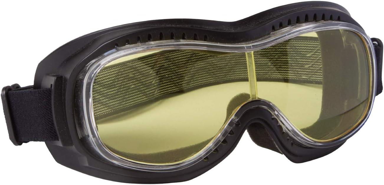 Piwear Motorradbrille Schutzbrille Toronto Schwarz Mit Gelbem Glas Auto