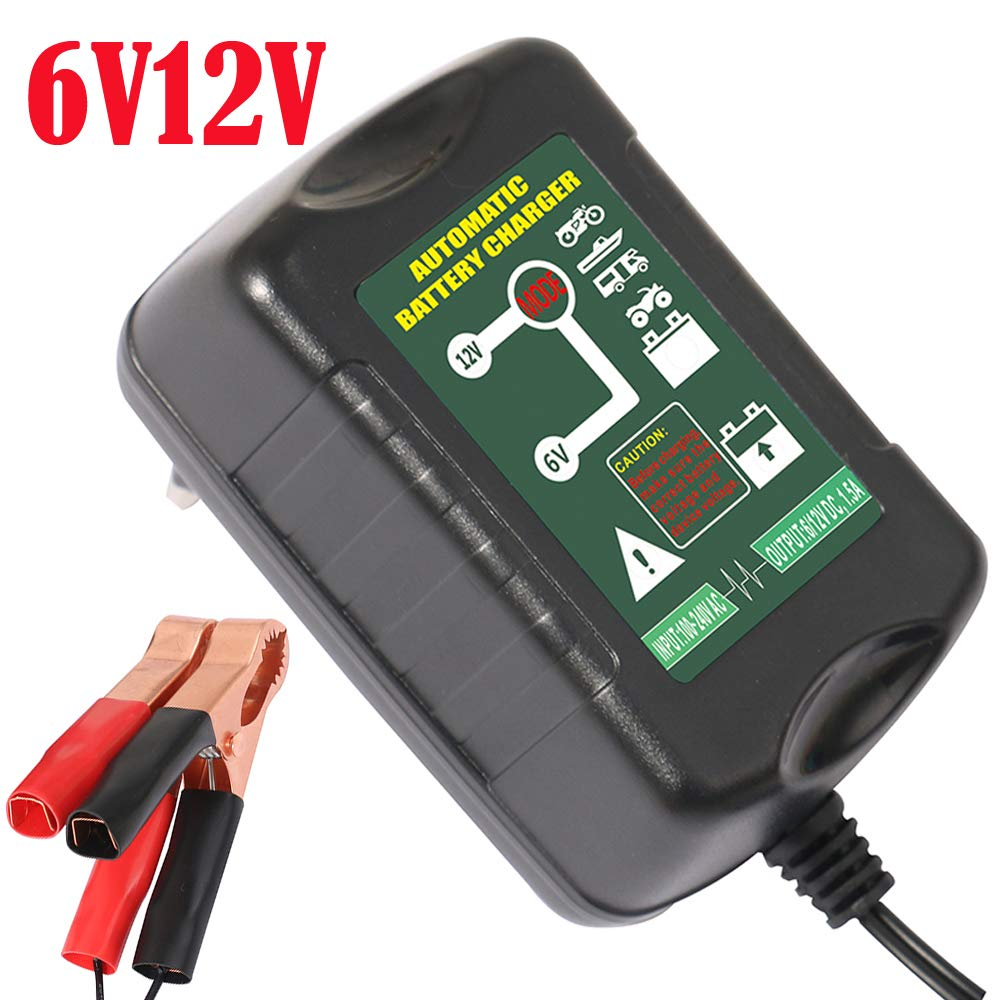 Intelligent Lead-acid Battery Charger Automatic Maintainer 6V/12V 1.5A 2 in 1 For Car Motorcycle Marine Batteries Yishen