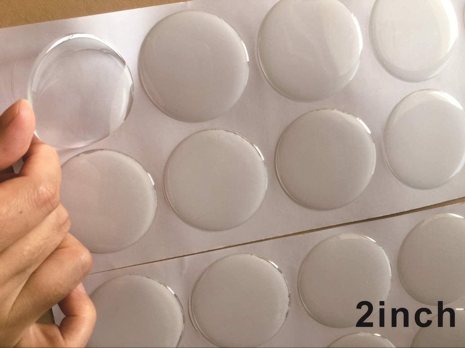 3D Stickers Resin Domed NUMBER 2 TWO Color White Adhesive 2 inches 50 mm