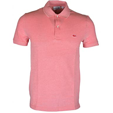 Lacoste PH6633 Slim Fit Redish Pink Polo 3 - Small Pink at Amazon ... 4eb51c43d0