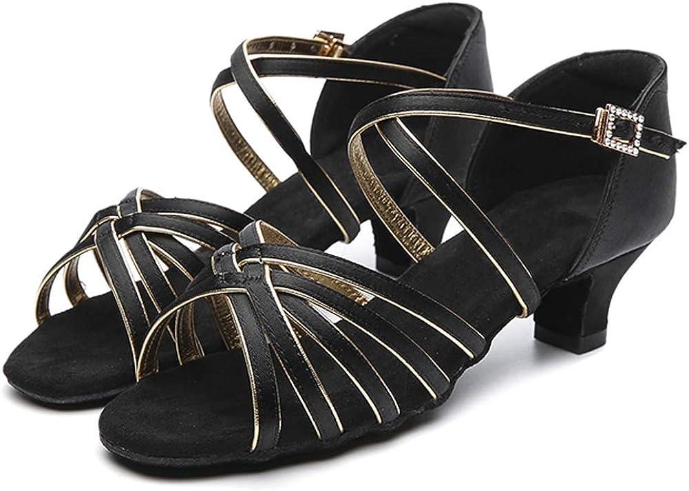 HIPPOSEUS Salle de Bal Chaussures de Danse//Standard Chuaussures de Danse Latines en Satin pour Femmes /& Filles,Maquette FR213