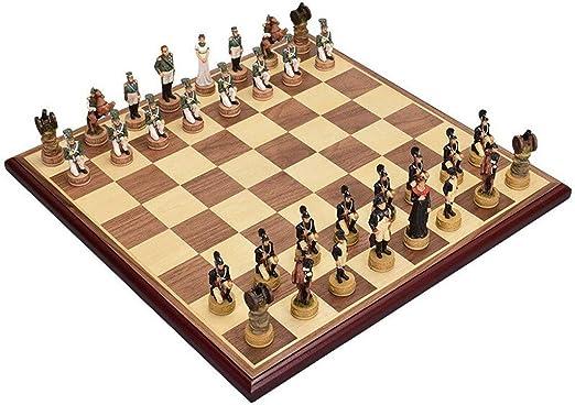 LEZDPP Piezas de Juegos de Mesa Tablero de ajedrez Grande simulación Tridimensional de Resina magnética Figuras Piezas de ajedrez Ajedrez Damas Damas Juguetes (Size : 17.3 * 17.3 Inches): Amazon.es: Hogar