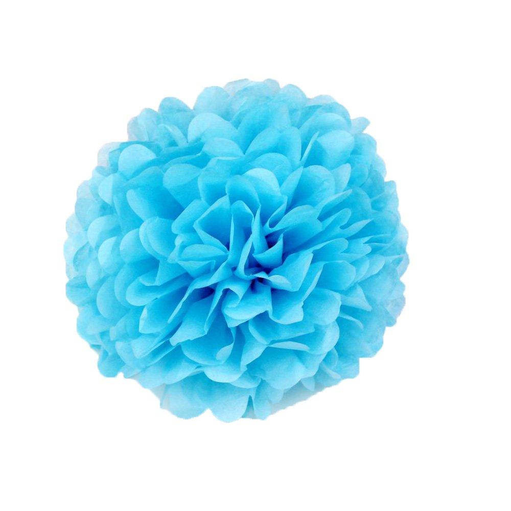 Super44day 15 pièces de tissus décoratifs Papier Honeycomb Balls Assorted Couleurs Tissue Boule Fleur de papier pour l'anniversaire décoration, mariage, décor Party, Papier de soie, tissus Kit Fleurs en papier, Pom Poms Artisanat, Pom Poms Décoration (10in