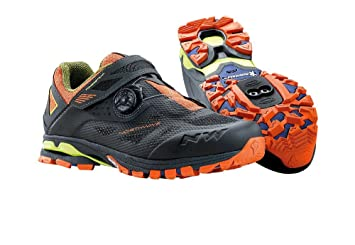 NORTHWAVE ARAÑA PLUS 2 zapatos bicicleta de montaña, antra-negro-naranja, Tamaño