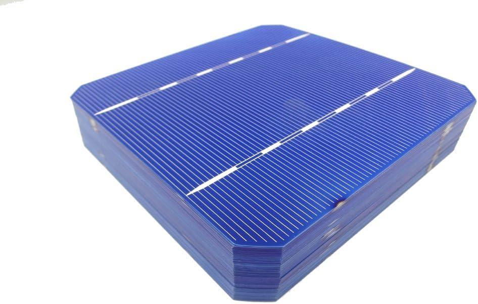 MISOL Mono Solar Cell 5×5 2.8w, GRADE A, monocrystalline cell, DIY solar panel, for DIY solar module