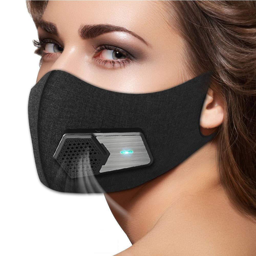 ZRK New Intelligent Air Supply System Dustproof Electric Mask Anti-Fog Pm2.5 Industrial Protection Dust Dust Sports Sunscreen Silk Mask Wearable Air Purifier