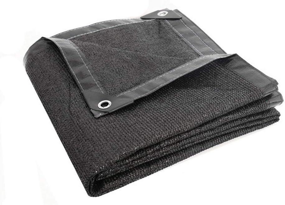 FEIFEI サンメッシュシェード強化テープとグロメット付き90%日焼け止めシェードクロスUV耐性ネット (色 : ブラック, サイズ さいず : 10×15m) ブラック 10×15m