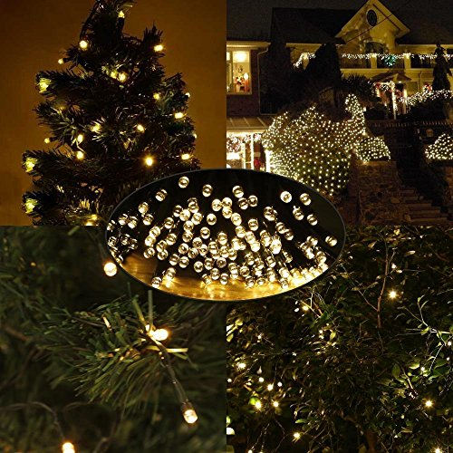 LE Solar Power 100 LED String Lights, 49ft/15m, Waterproof, - Import It All