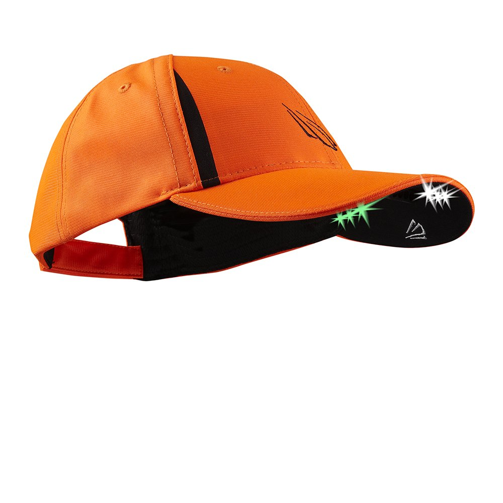 POWERCAP LED PRO Hat Ultra-Bright Hands Free Lighted Battery Powered – Blaze Orange (CUB6-282597)