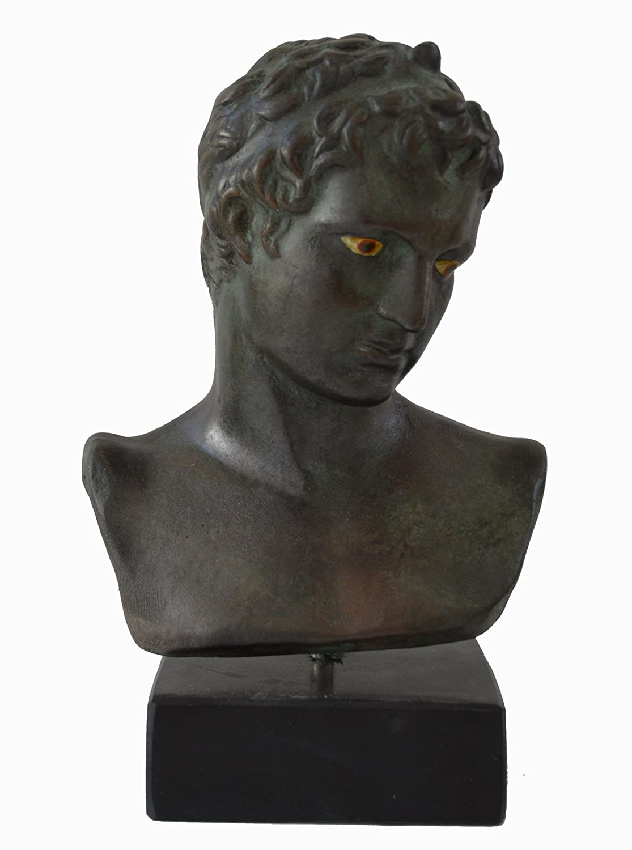 /Museum Reproduction Ephebe busto/ Marathon Youth scultura color bronzo con effetto/ /Ephivos