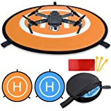 KINBON Drone Landing Pads, Waterproof 30'' Universal Landing Pad Fast-fold Double Sided Quadcopter Landing Pads for RC Drones