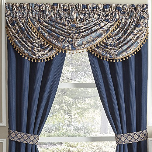 CROSCILL Aurelio Waterfall Swag Valance, Blue